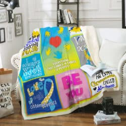 Down Syndrome Sofa Blanket P339 Block Of Gear