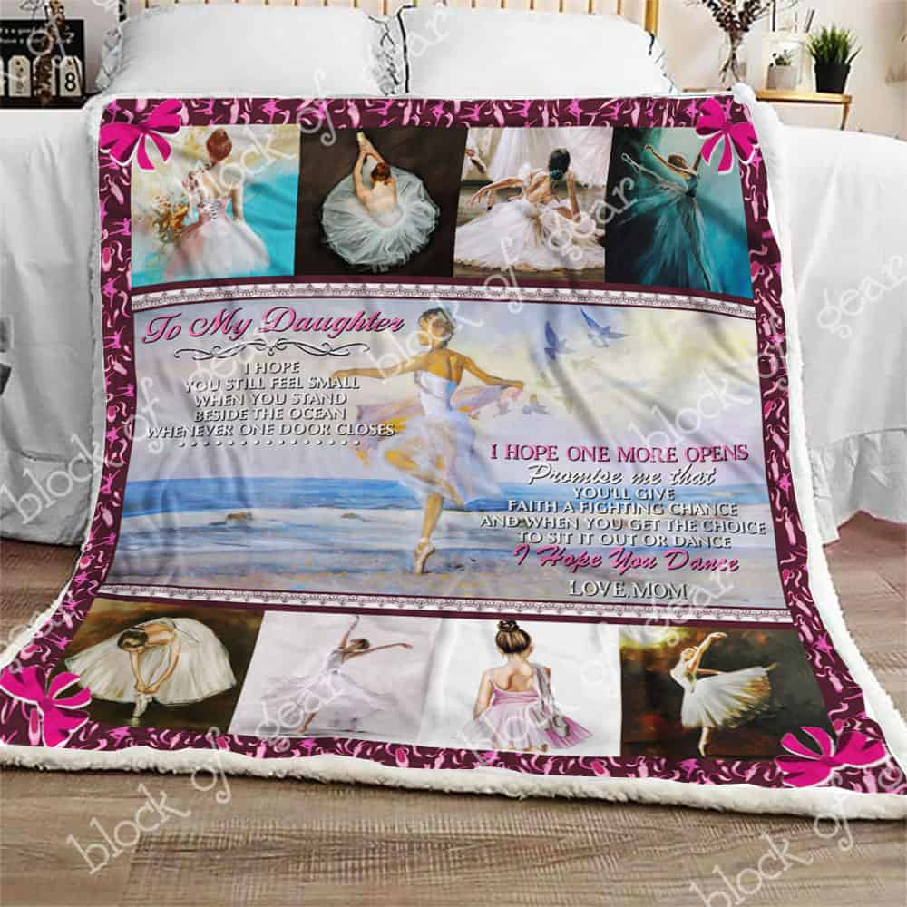 Block Of Gear To My Daughter Ballet Sofa Blanket Th679
