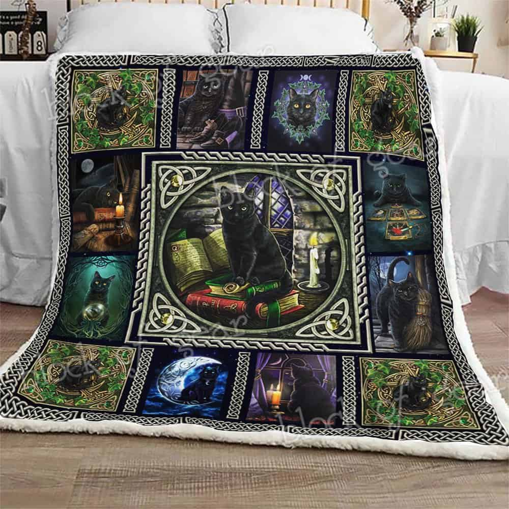 Block Of Gear Wiccan Black Cat Sofa Blanket Thh1037