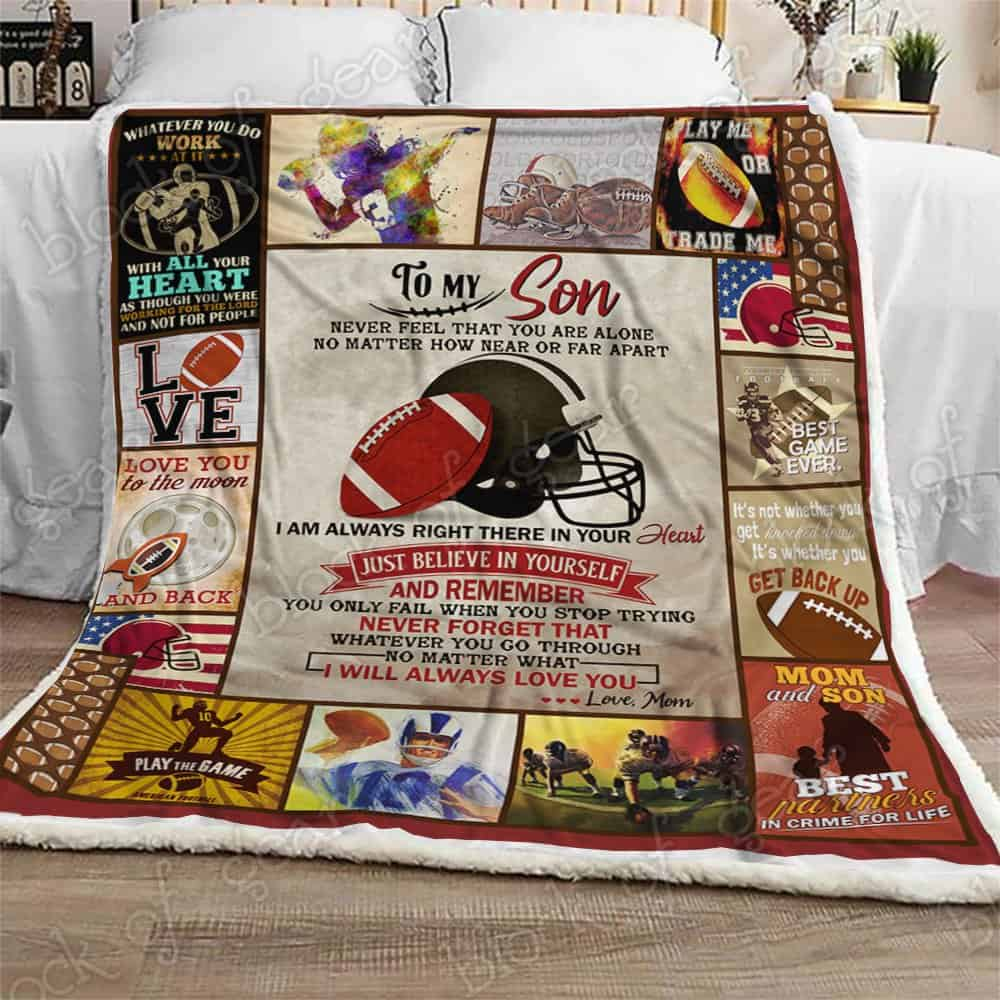 Best Top Jeep >> To My Son, Football Sofa Blanket THB1267SC1 Block Of Gear ...